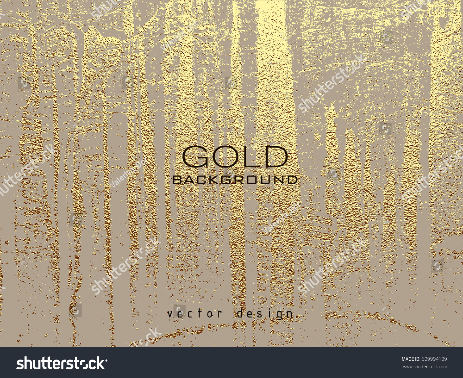 Gold Grunge Texture Create Distressed Effect Stock Vector (2018 ...