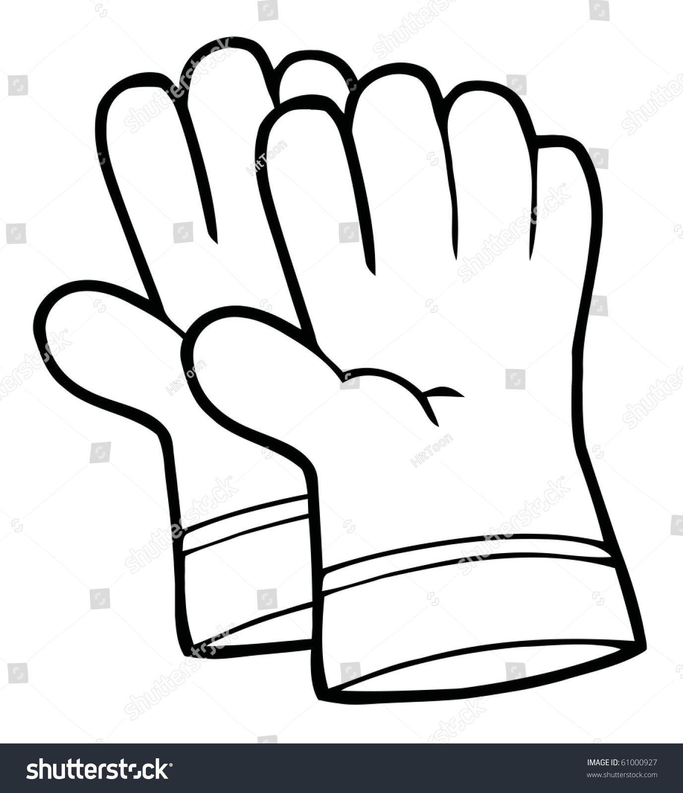 Gallery For Gloves Outline