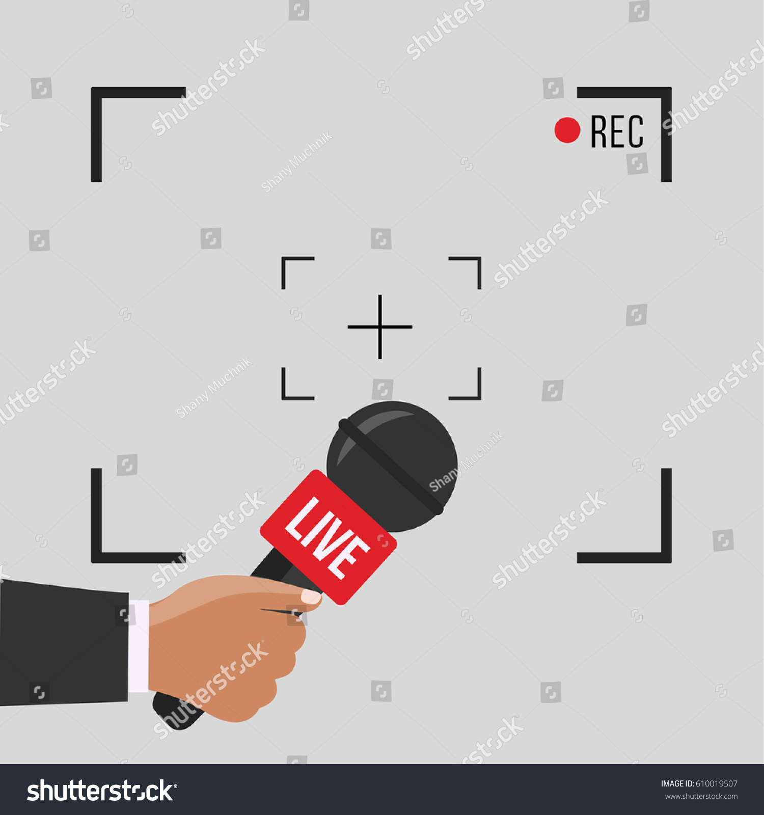 News Illustration On Focus TV Live Stock Vector (Royalty Free ...