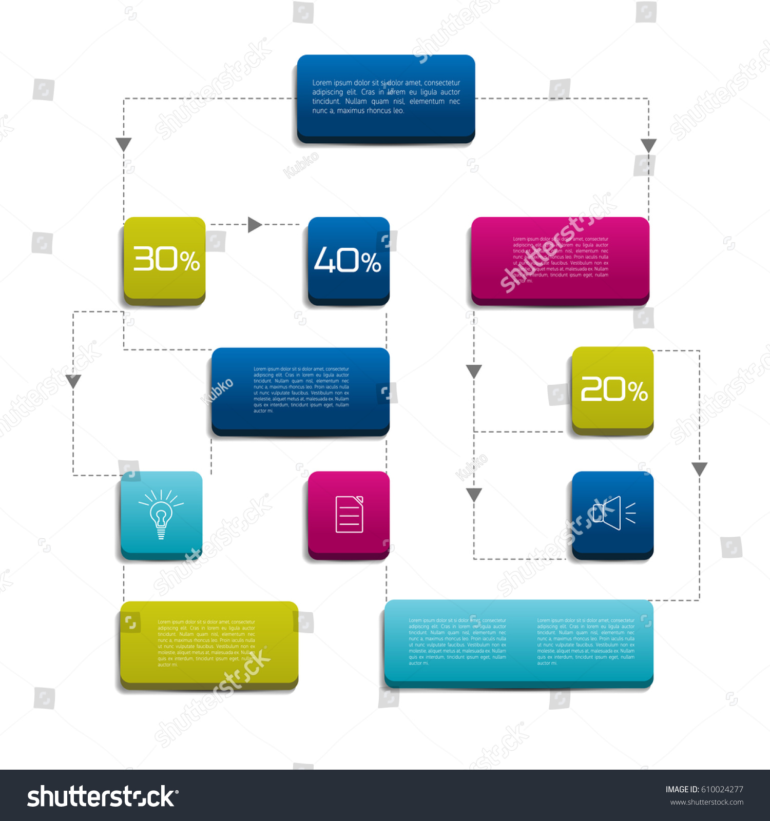 Flow chart colored shadows scheme stock vector 610024277 flow chart colored shadows scheme geenschuldenfo Image collections