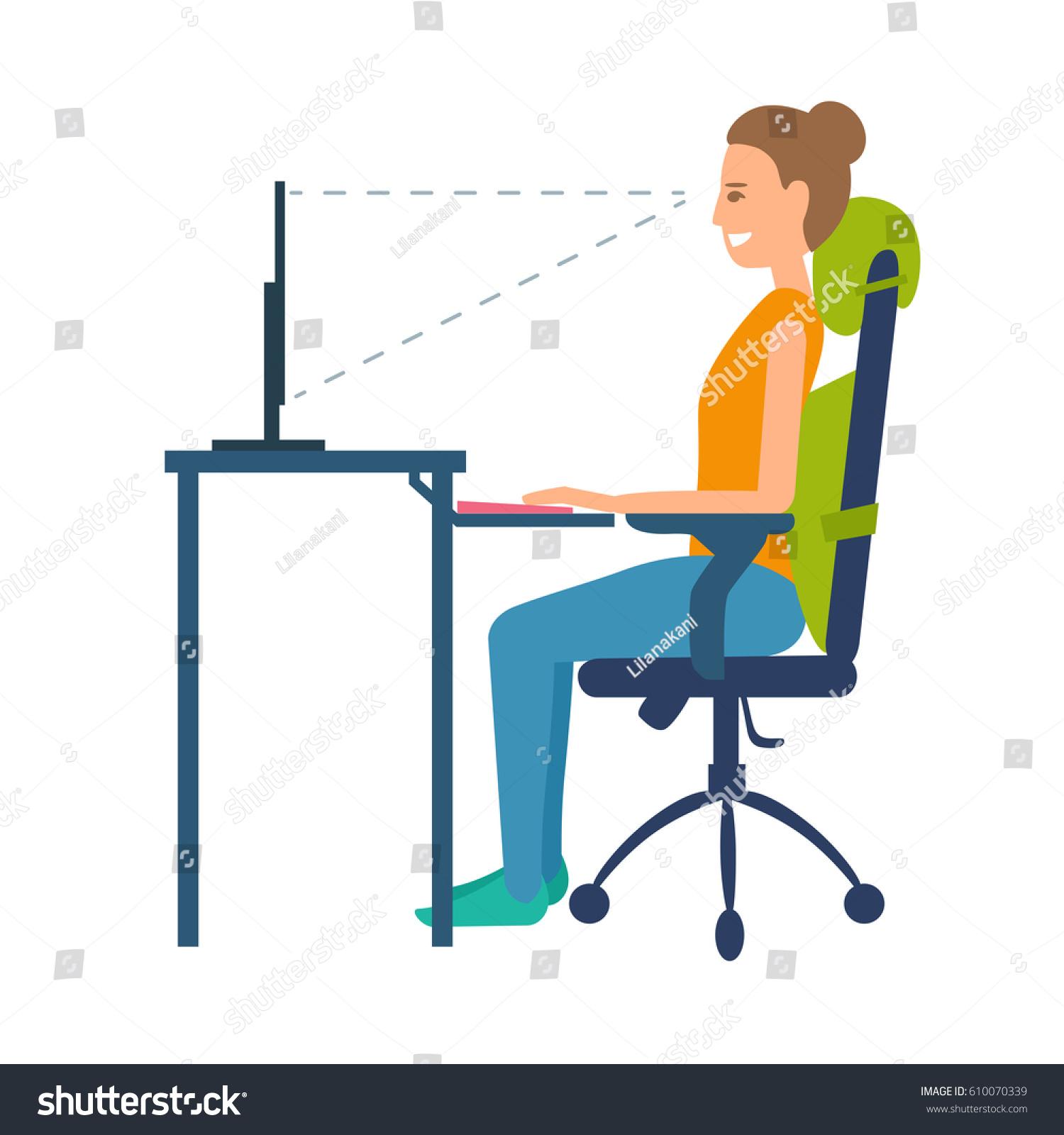 Correct Position Sitting Table Ergonomic Orthopaedic Stock