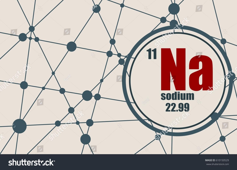 Sodium chemical element sign atomic number stock vector 610150529 sodium chemical element sign with atomic number and atomic weight chemical element of periodic urtaz Images