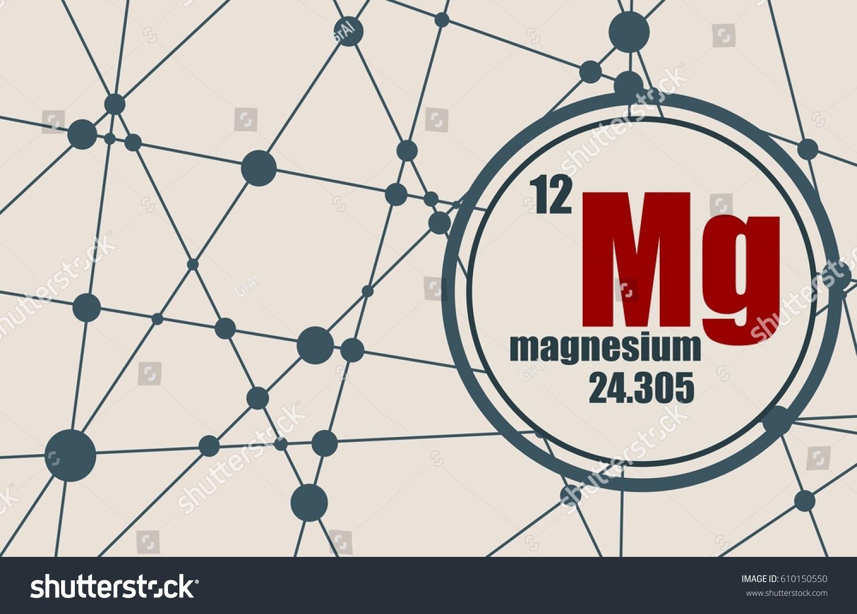 Magnesium chemical element sign atomic number stock vector 2018 magnesium chemical element sign with atomic number and atomic weight chemical element of periodic urtaz Gallery