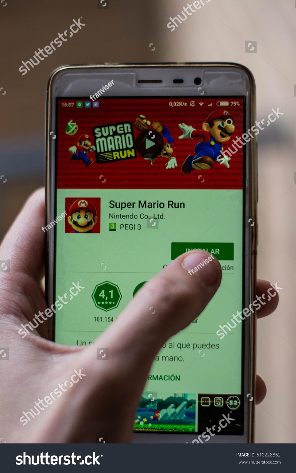 Super Mario Run New Game Mobile Stock Photo (Edit Now) 610228862