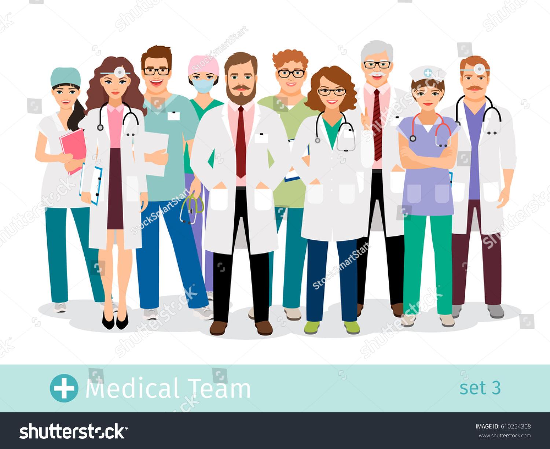hospital team medical staff flat professionals stock paramedic logo design paramedic logo design pics