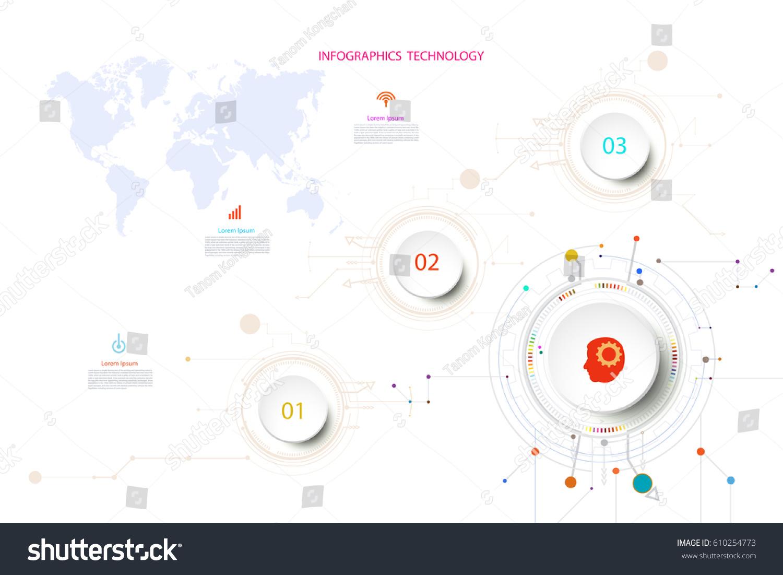 infographic template timeline technology hitech digital stock vector 610254773 shutterstock. Black Bedroom Furniture Sets. Home Design Ideas