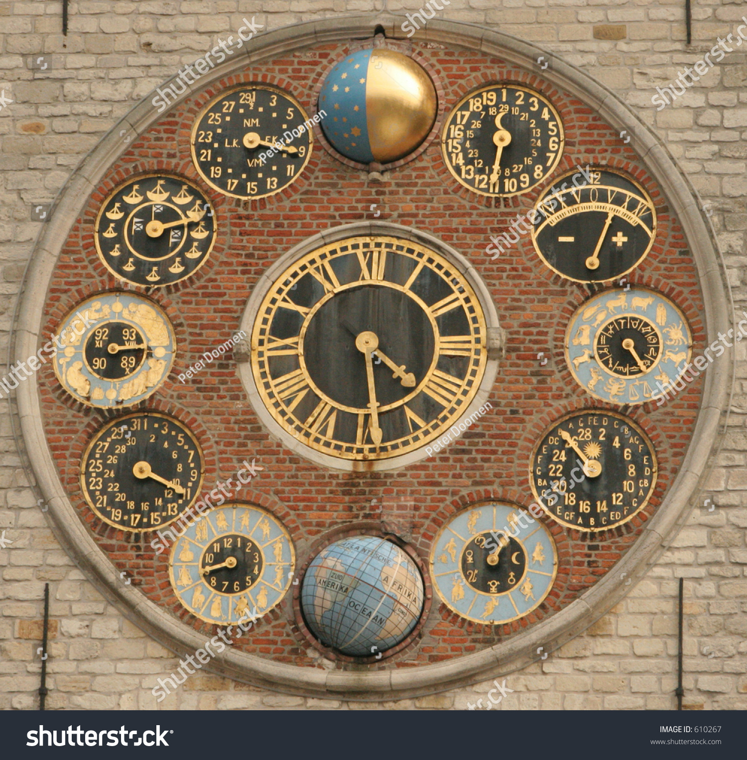 The Second Most Famous Clock In The World: Dial Of The World Famous Zimmer Clock Stock Photo 610267