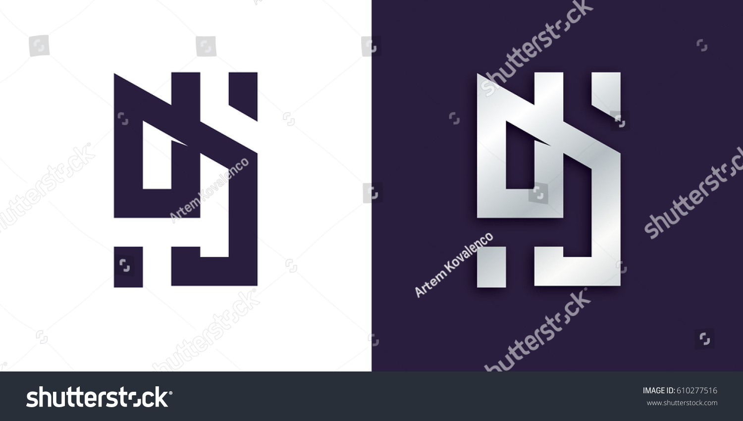 Vector logo illustration dj abstract letters stock vector dj abstract letters cool logo for the dj party biocorpaavc Images