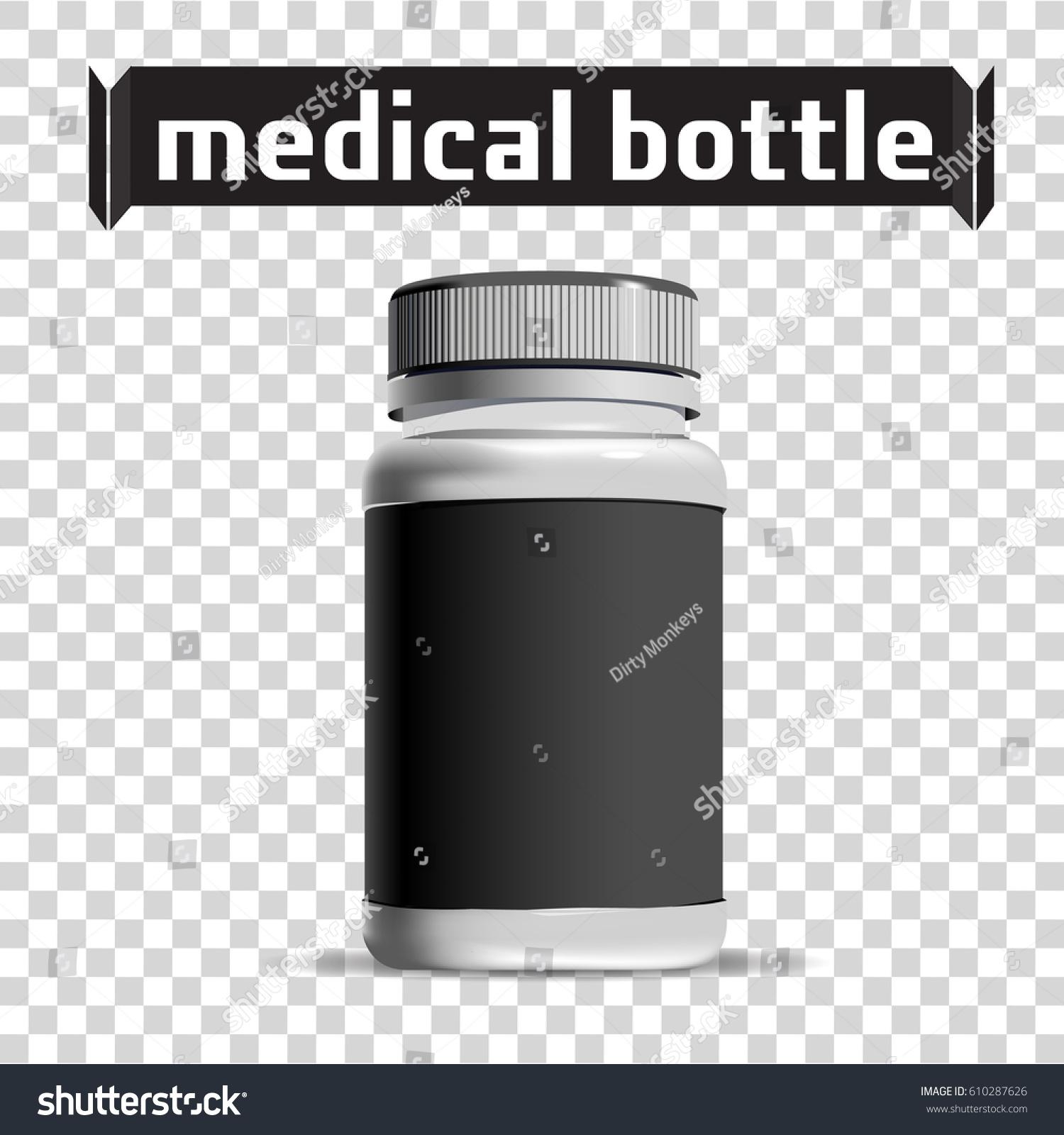 Medical Bottle Pharmacy Template Small Plastic Stock Vector ...