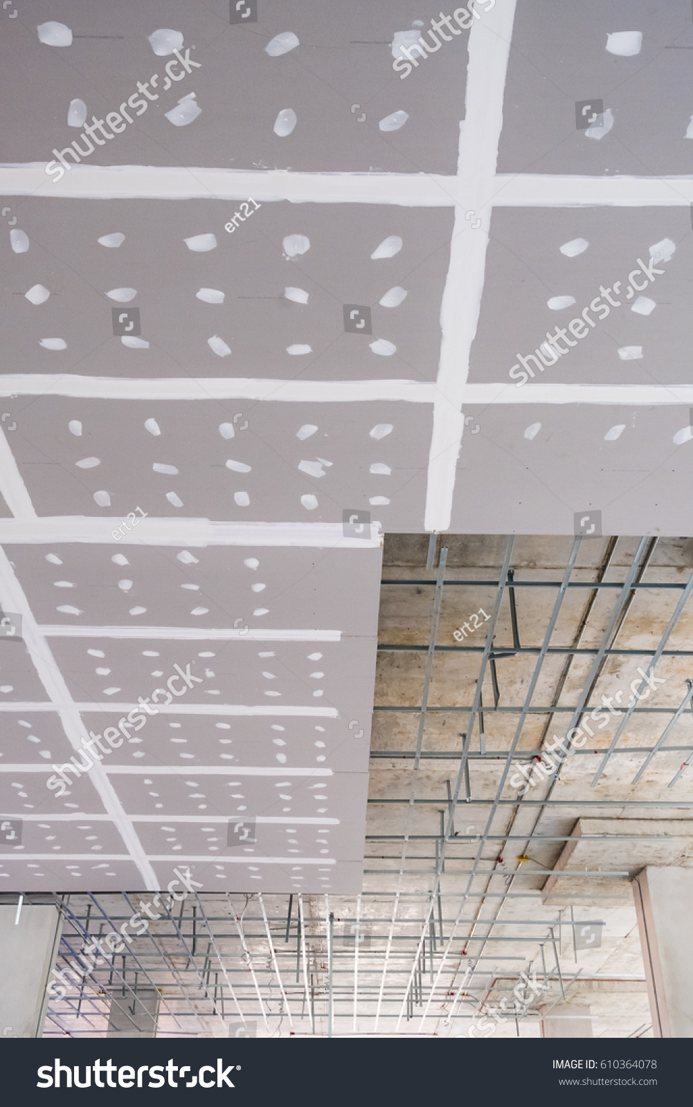 Installation of plasterboard ceiling. Installation technology. Apartment repair 93