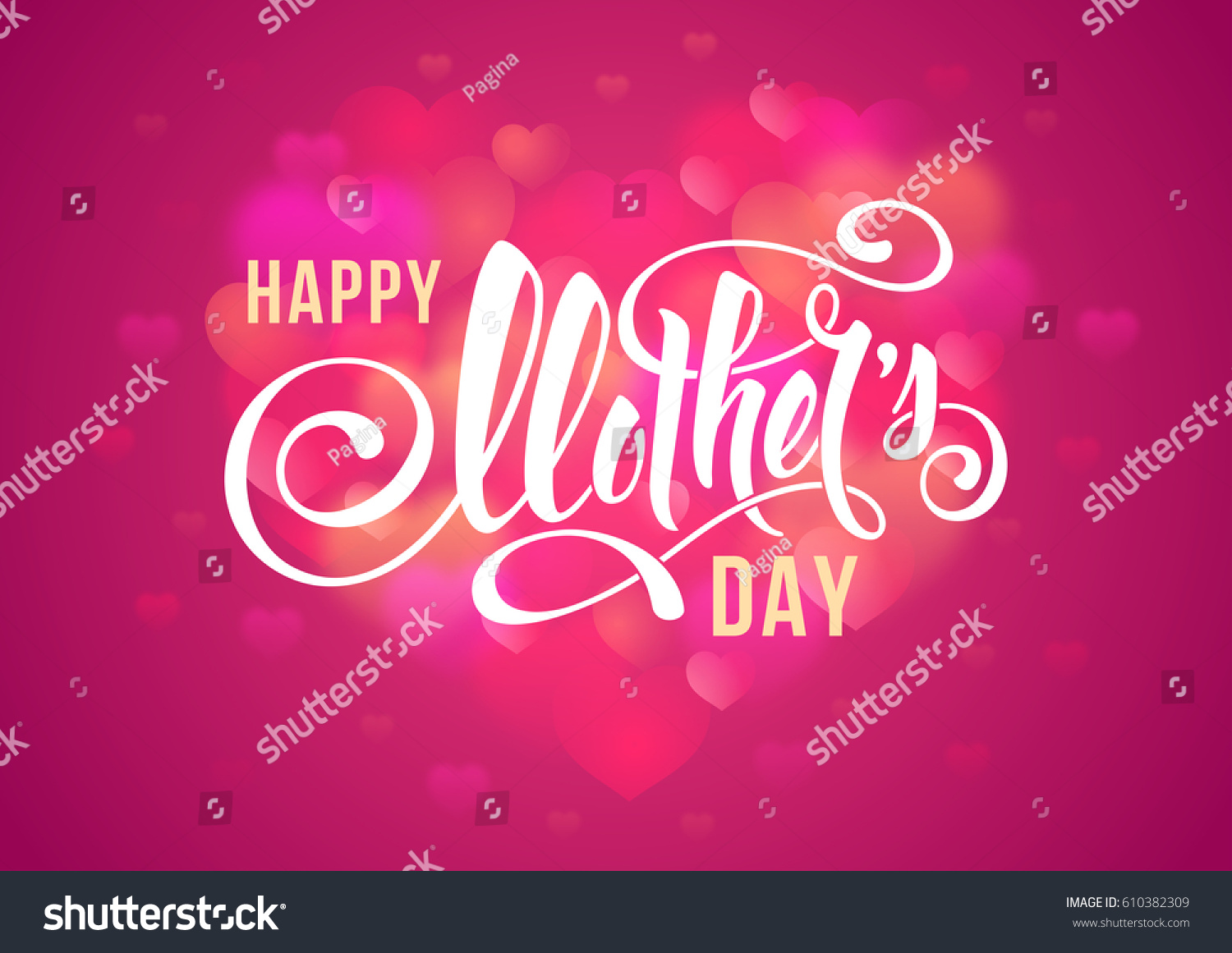happy mothers day design calligraphic lettering stock vector