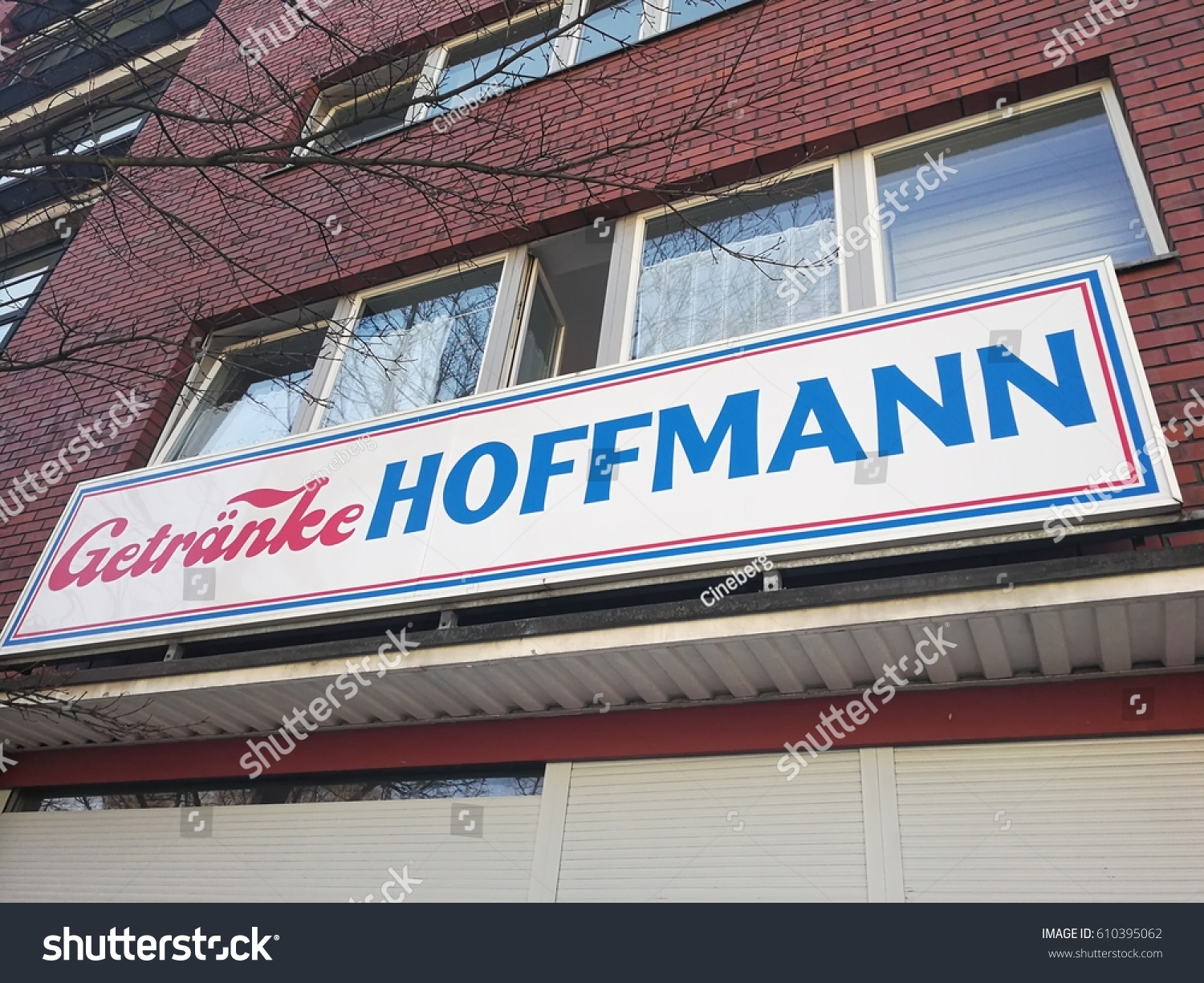 Berlin, Germany - March 26, 2017: Getranke Hoffmann shop. Founded in ...