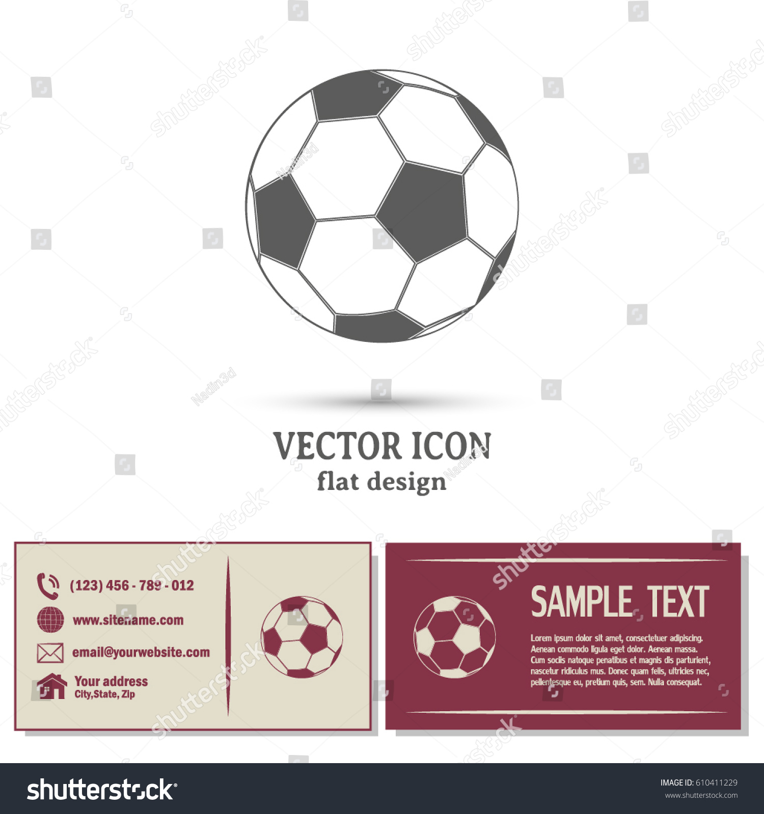 Business cards design soccer ball icon stock vector 610411229 business cards design soccer ball icon magicingreecefo Gallery