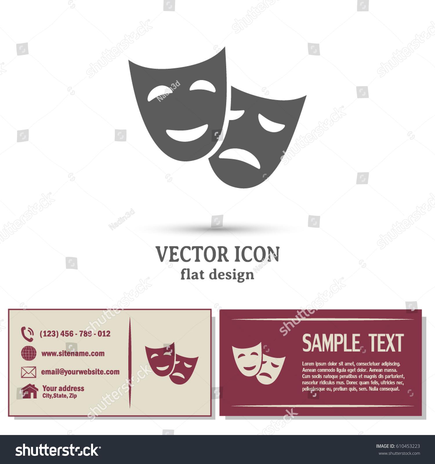Business Cards Design Facial Mask Symbol Stock Vector 610453223 ...