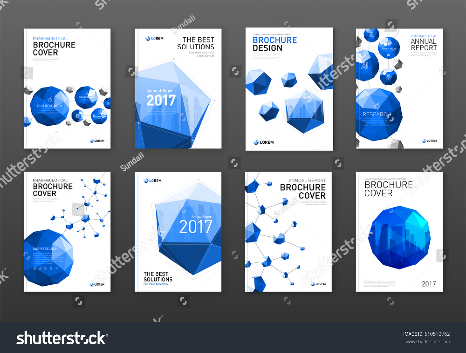 corporate brochure cover design templates set stock vector 610512962