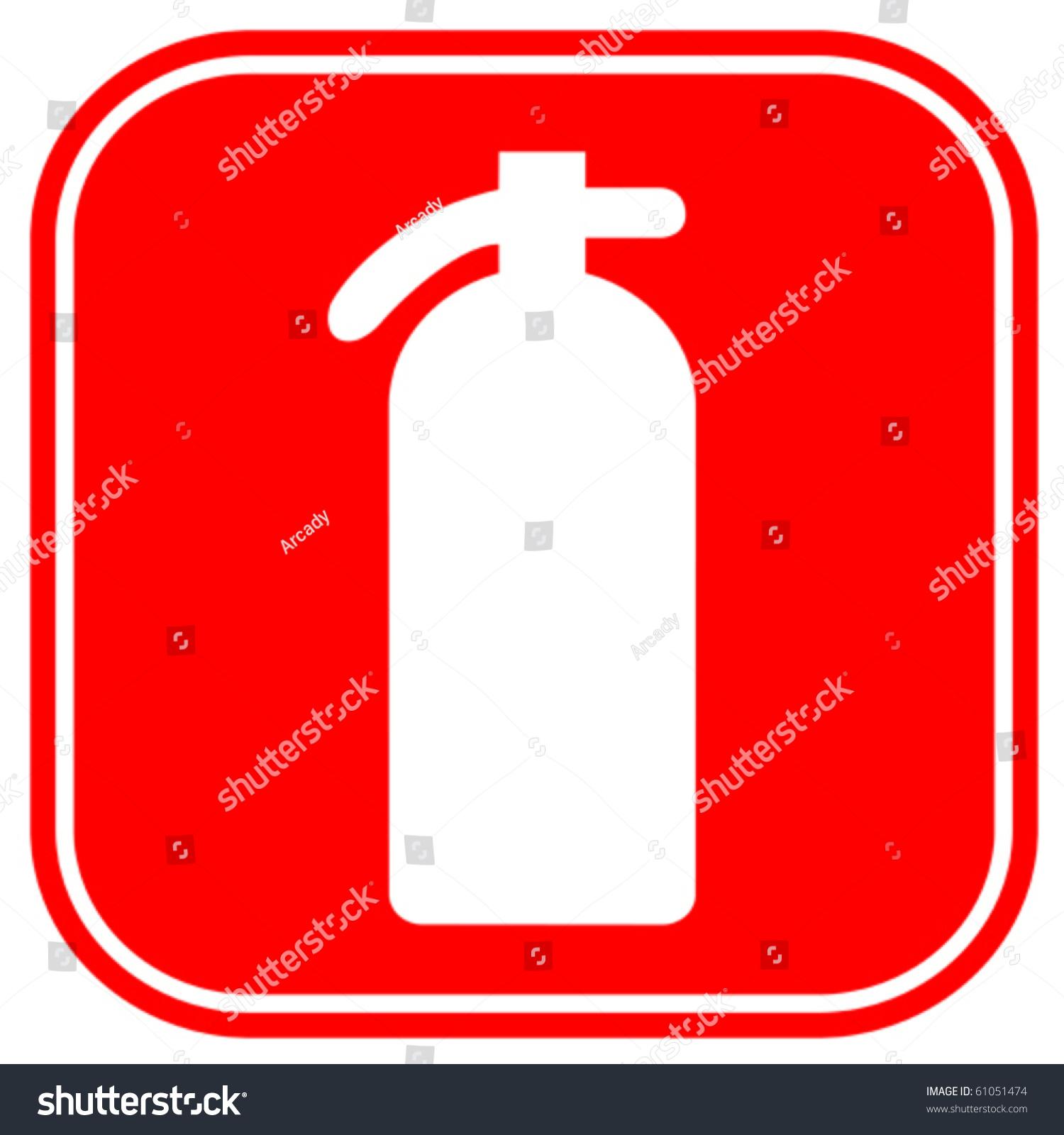 fire extinguisher sign stock vector illustration 61051474