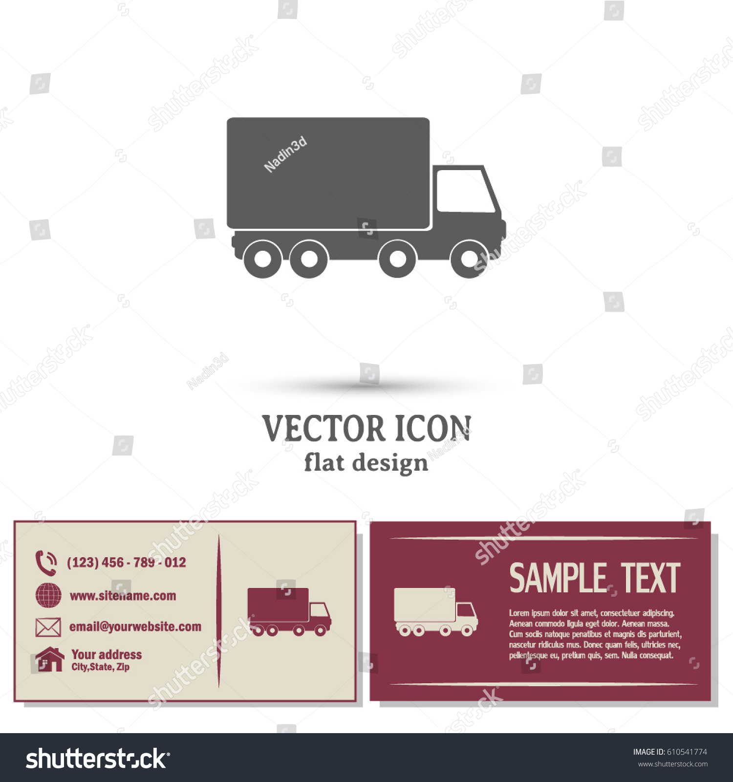 Business Cards Designvector Illustration Truck Stock Vector ...