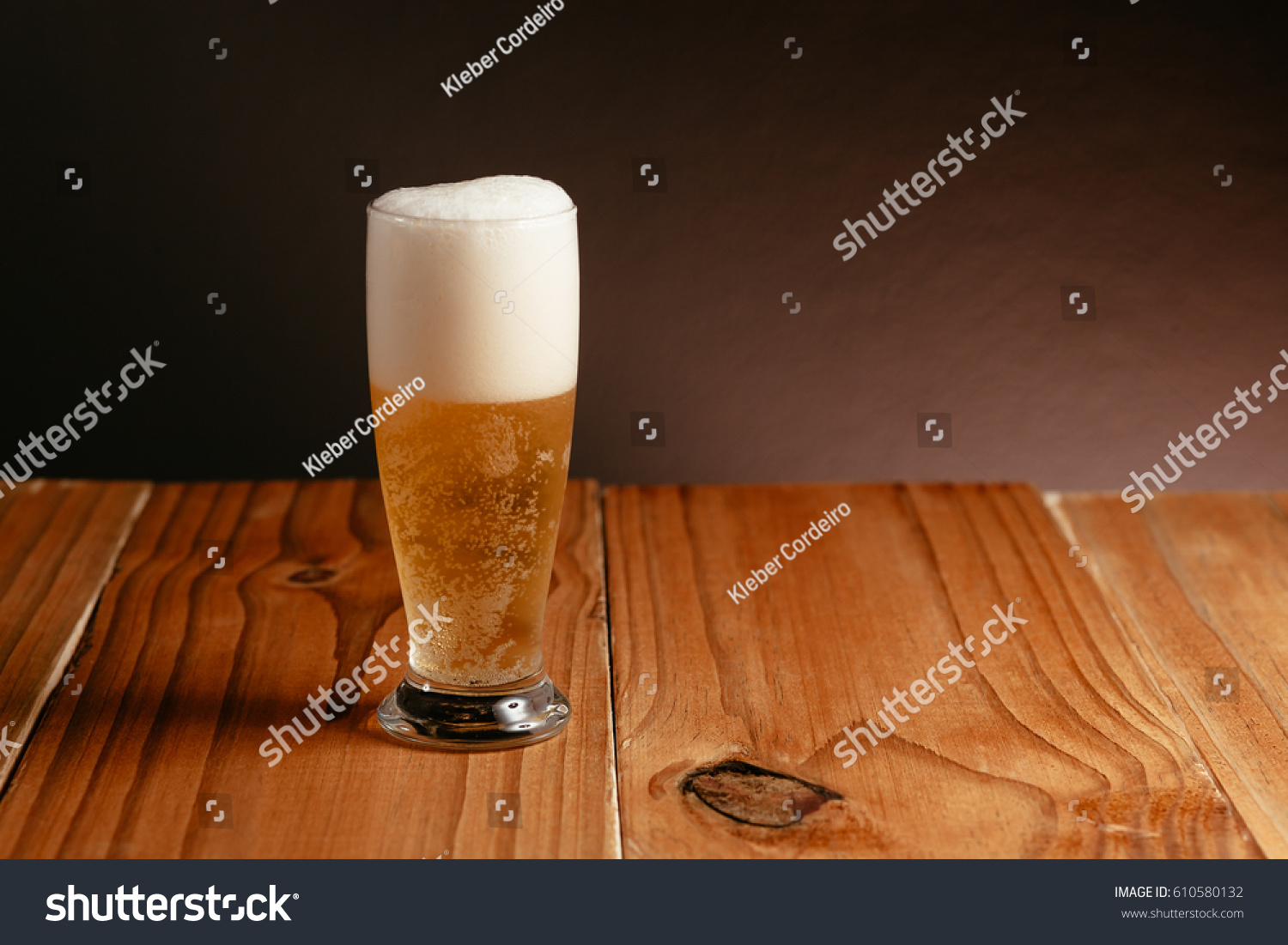 glass beer on wood - photo #12