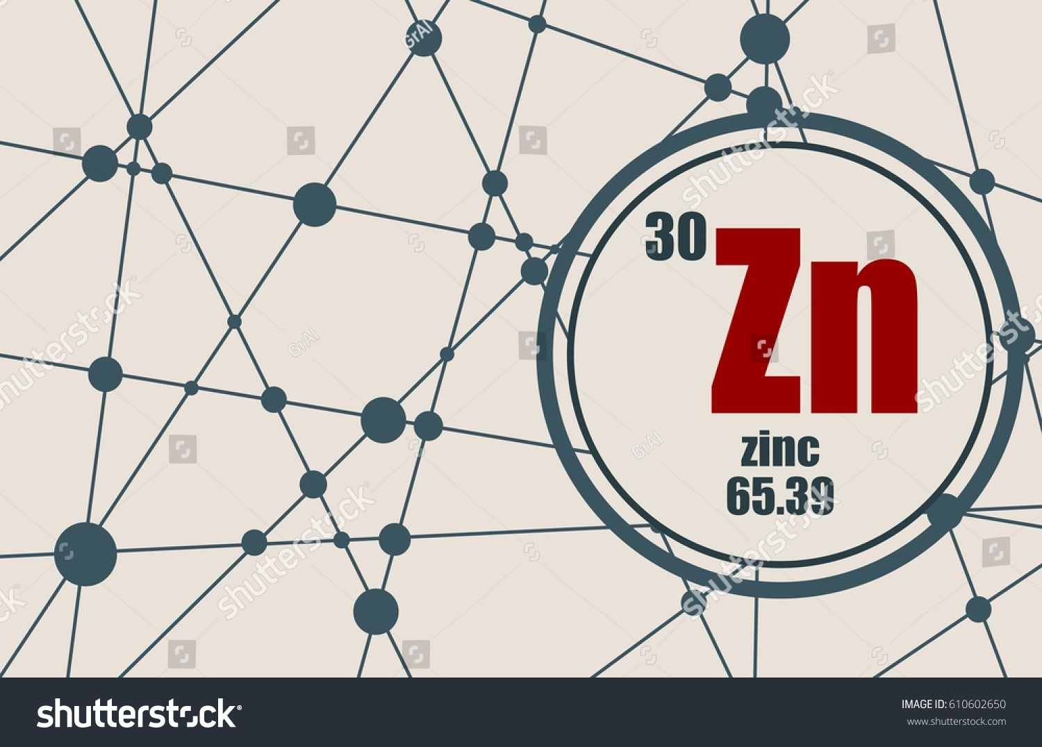 Zinc chemical element sign atomic number stock vector 610602650 sign with atomic number and atomic weight chemical element of periodic gamestrikefo Choice Image