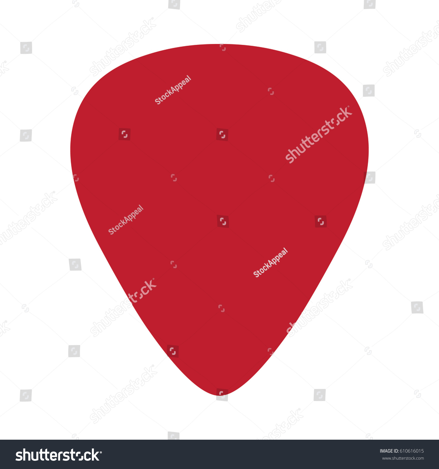 Vector Guitar Pick Shape Template Stock Vector Royalty Free
