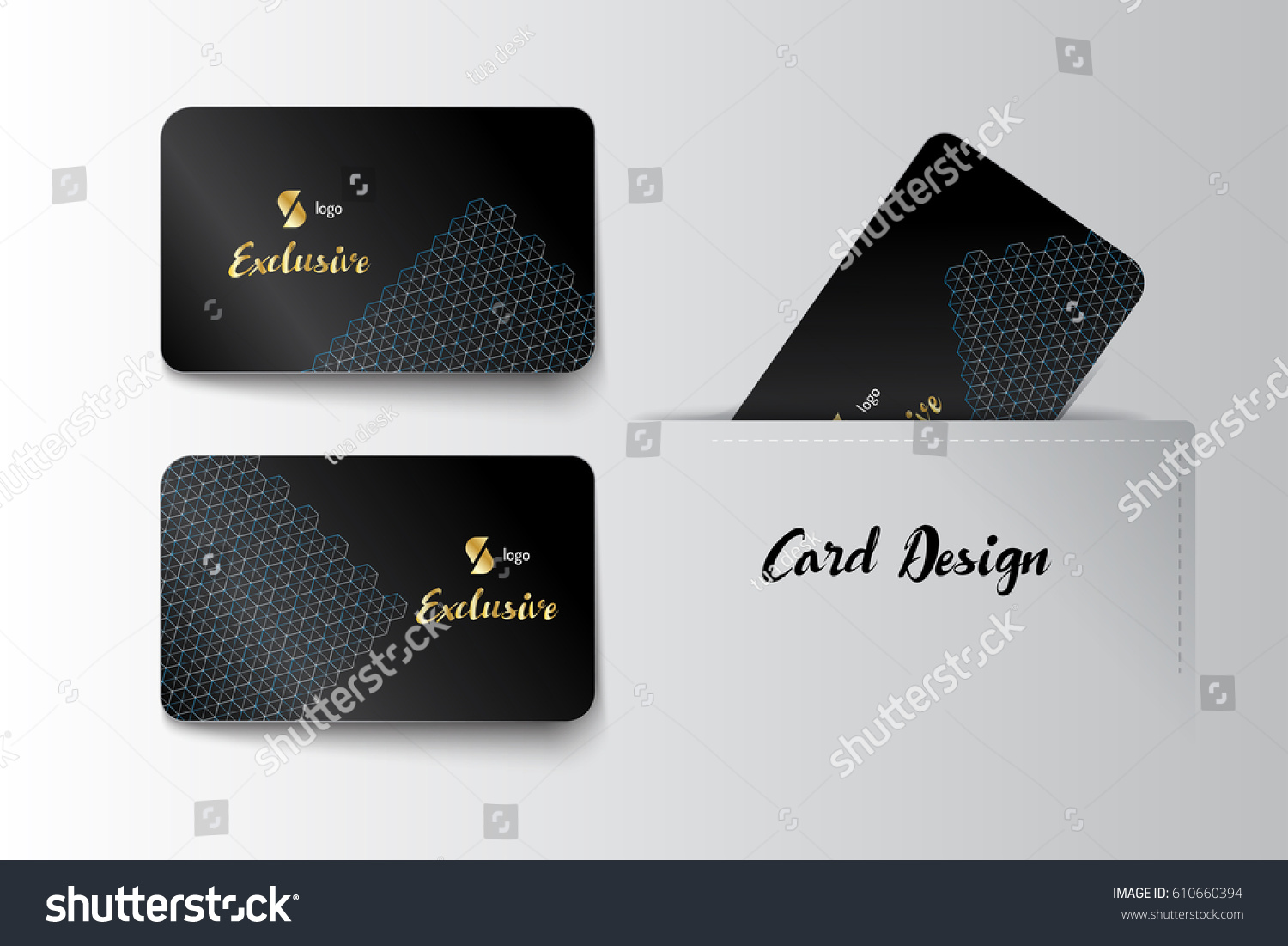 Member VIP Business Card Template Design Stock Vector 610660394 ...