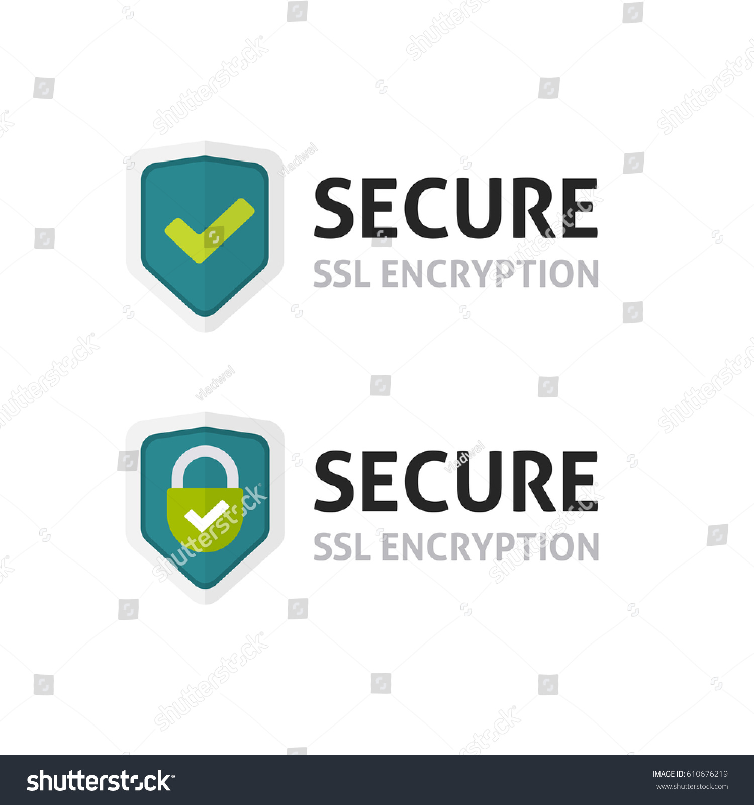 Ssl Certificate Vector Icon Secure Encryption Stock Vector Royalty