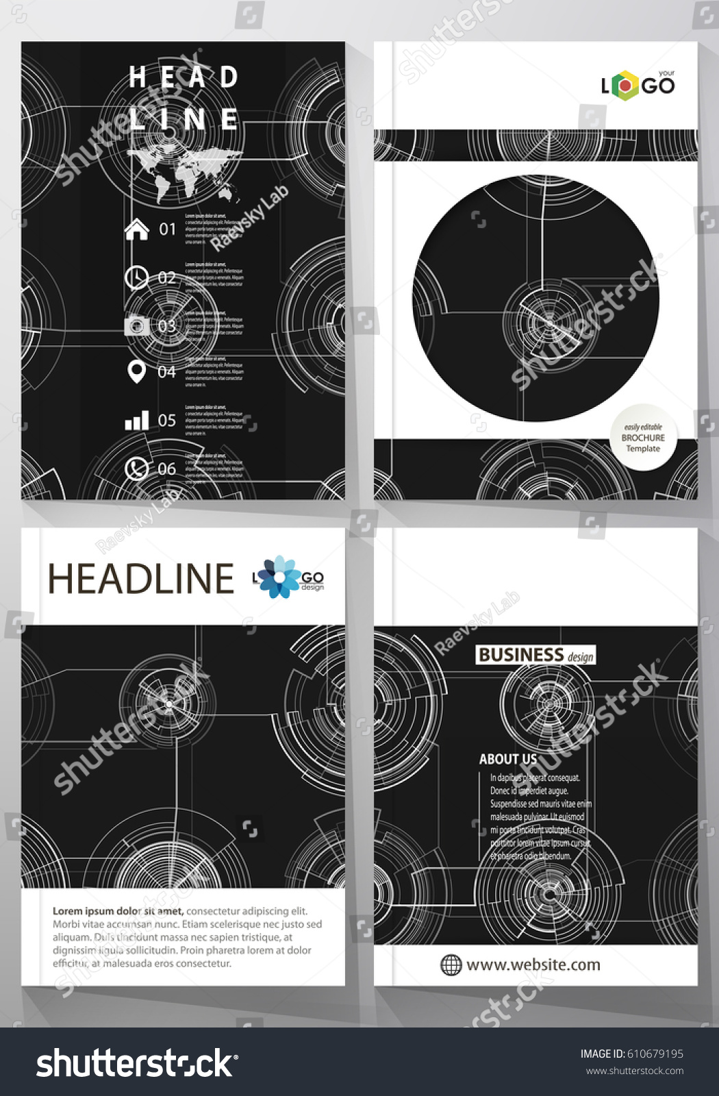 technology brochure templates - business templates brochure magazine flyer annual stock