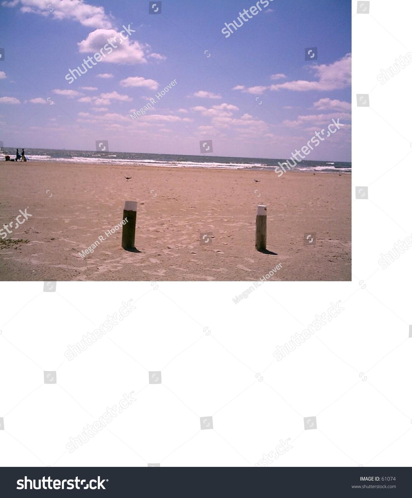 Mustang Island Beach: Photo Taken On Beach On Mustang Island In Corpus Christi