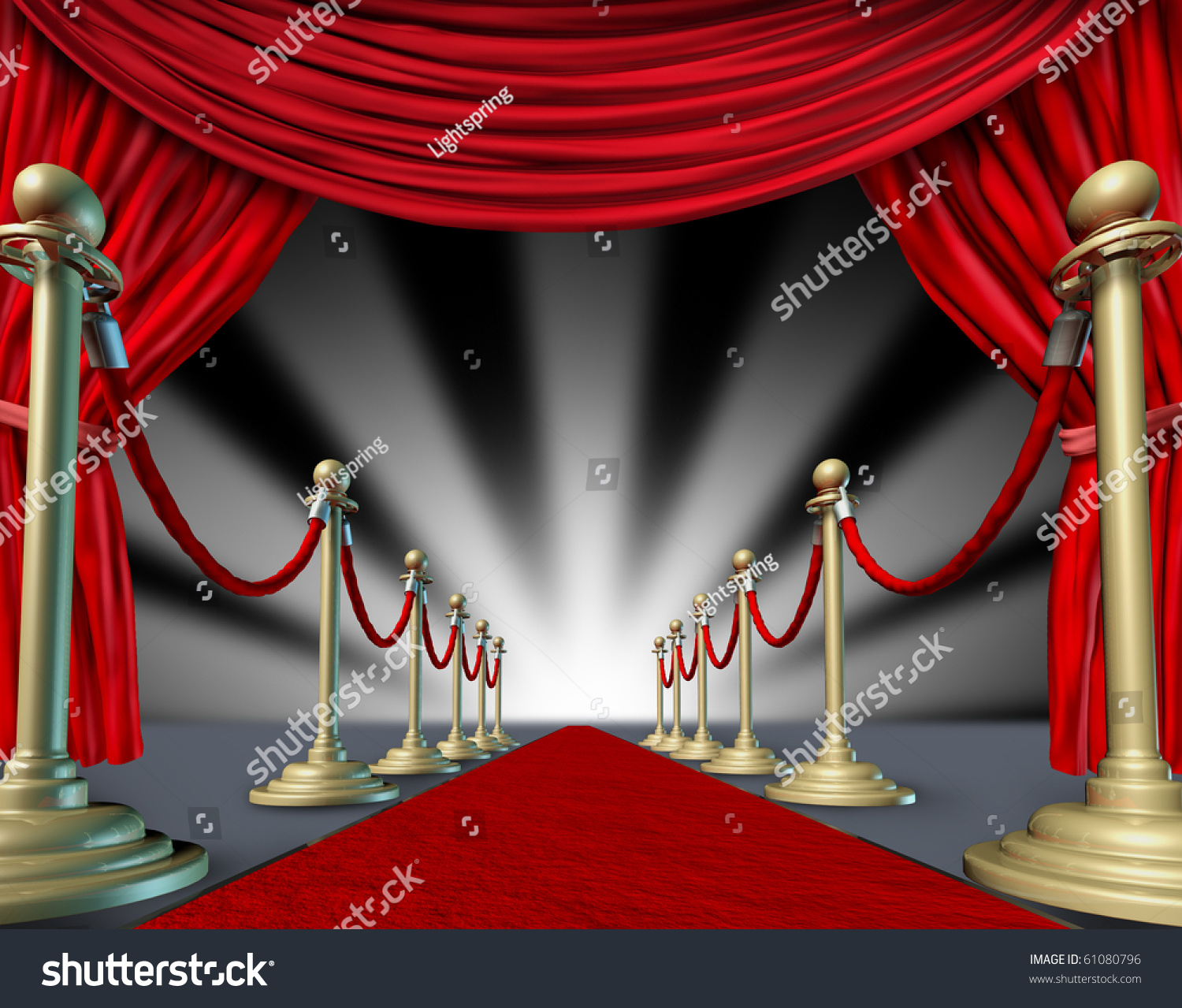 Red Carpet Curtains Hollywood Premier Grand Opening Movie Star Stock ...