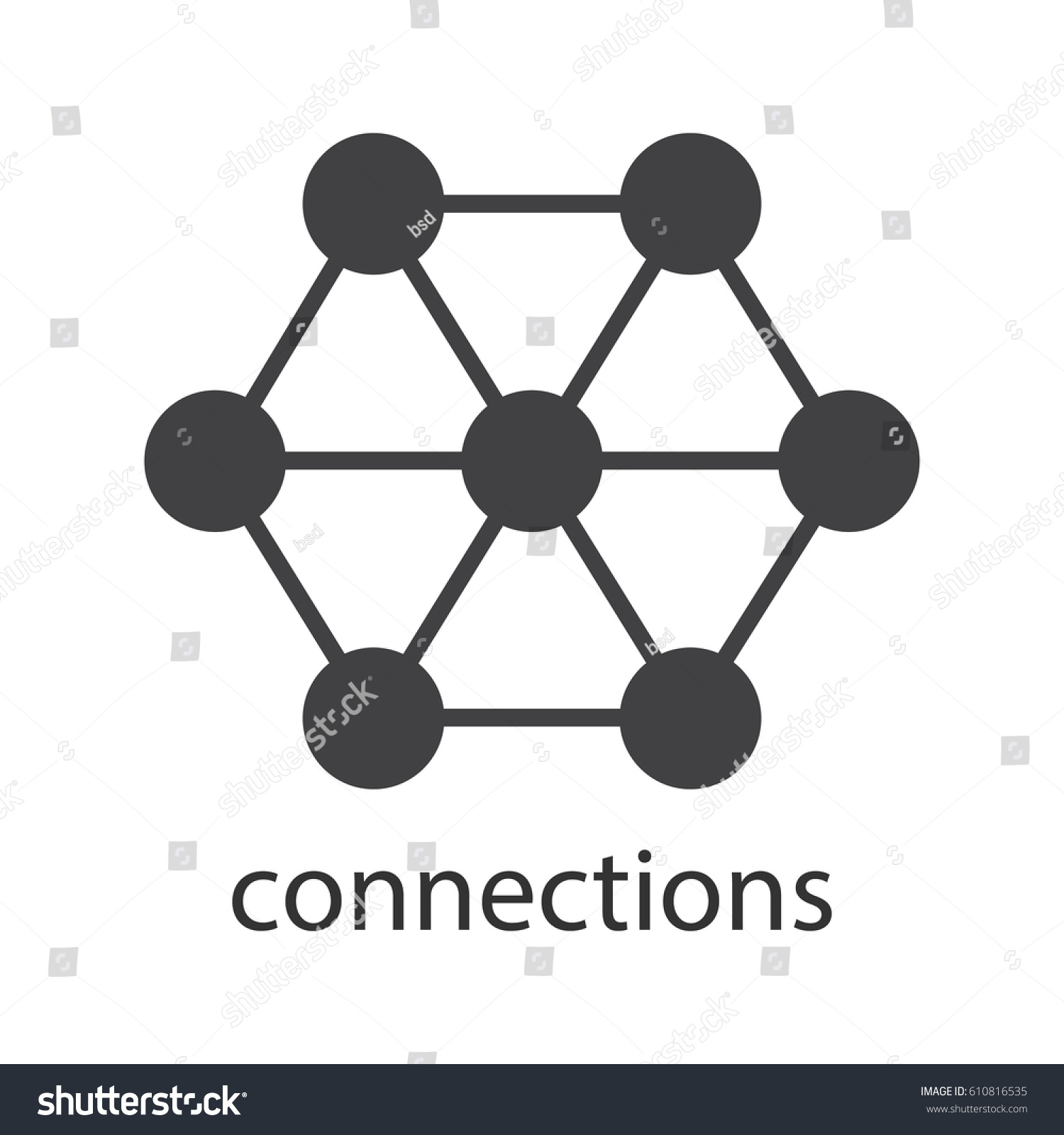 Connections glyph icon silhouette symbol interrelation stock connections glyph icon silhouette symbol interrelation abstract metaphor negative space vector isolated pooptronica