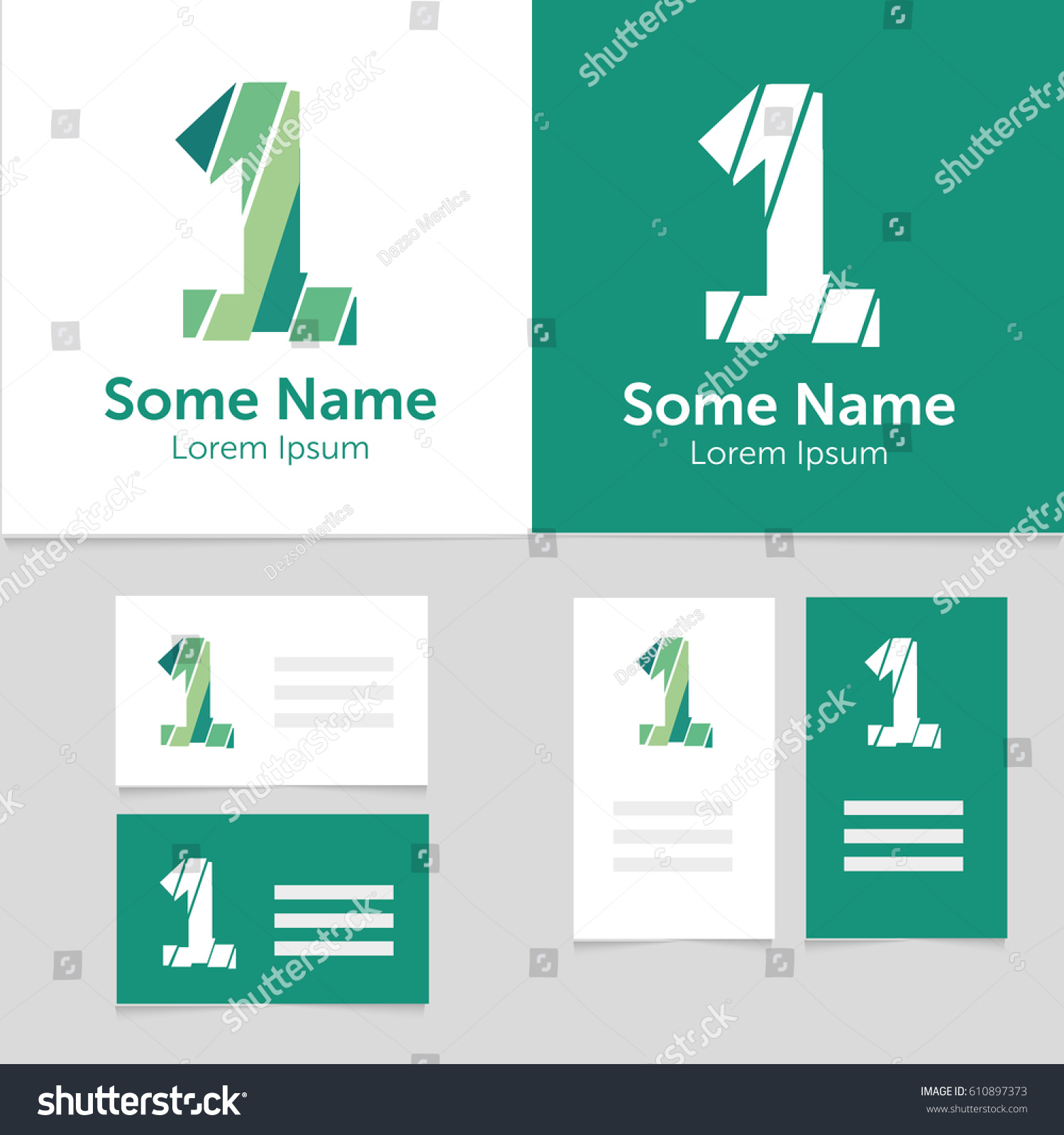 Editable Business Card Template 1 Number Stock Vector 610897373 ...