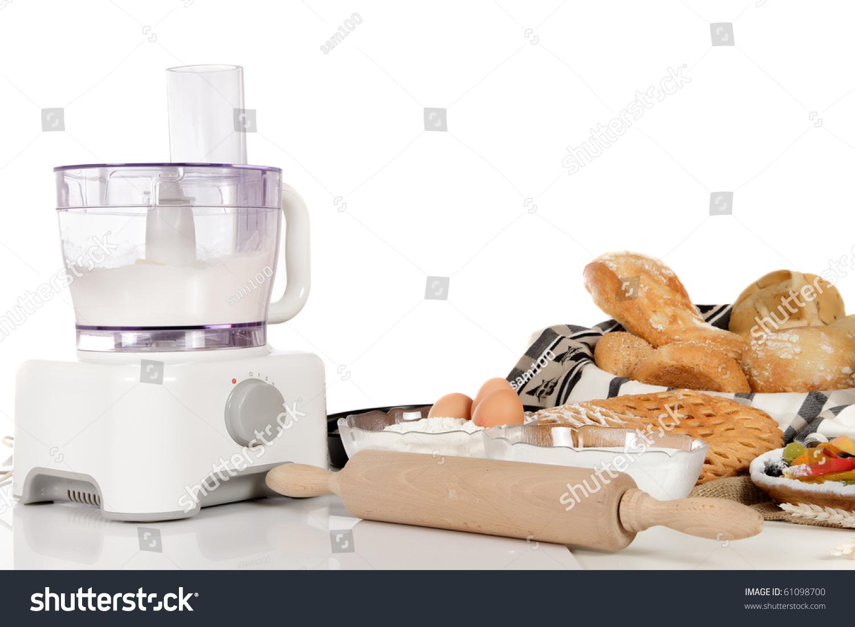 Food Processor Kneading Bread Dough
