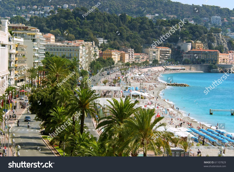 Overhead View Waterfront Boulevard Promenade Des Stock ...
