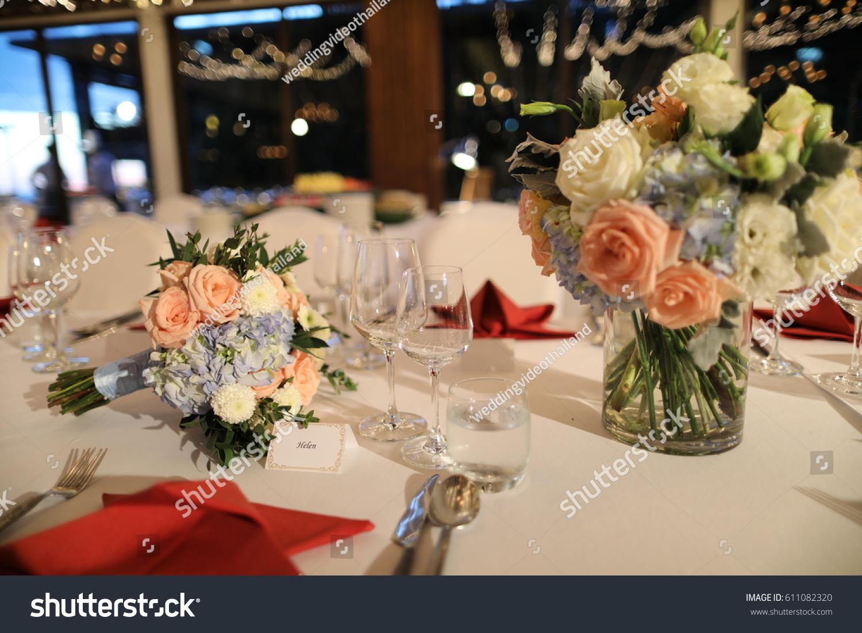 Dinner Set Up Wedding Reception Ez Canvas