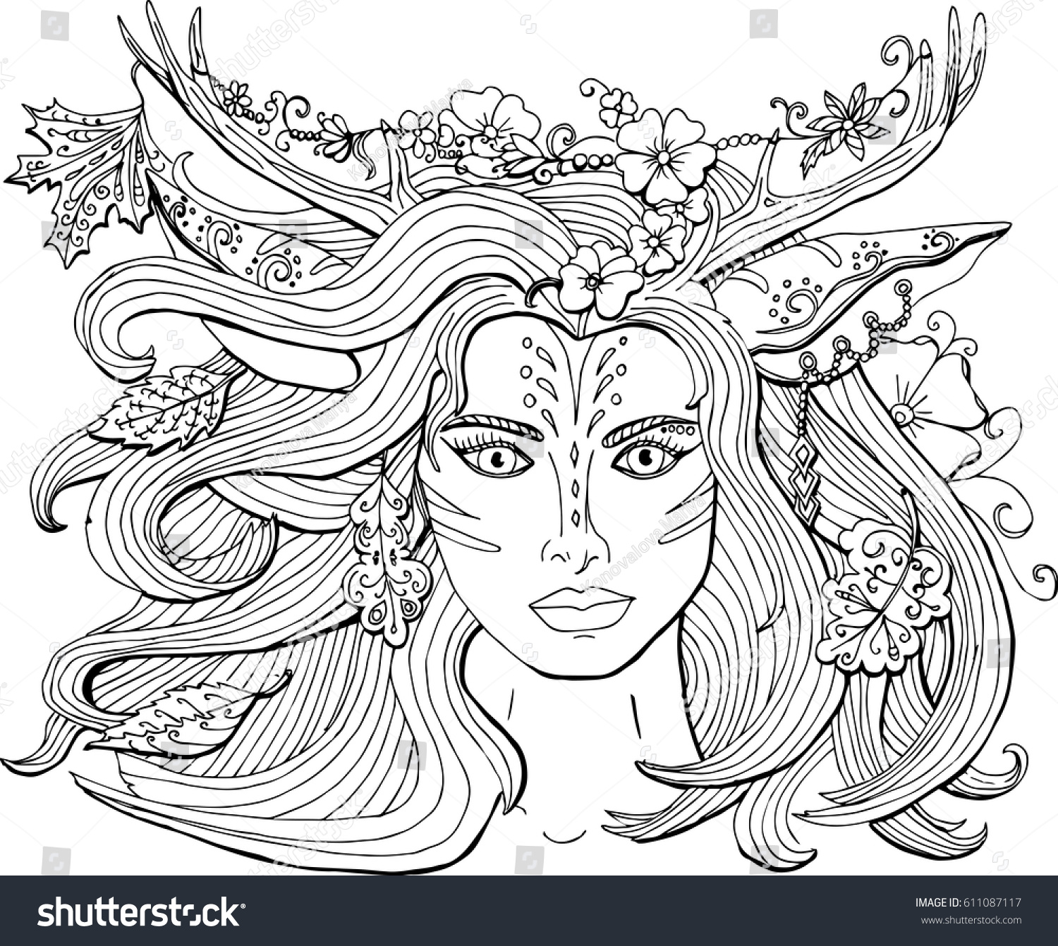 vector coloring pages adults ornament beautiful stock vector
