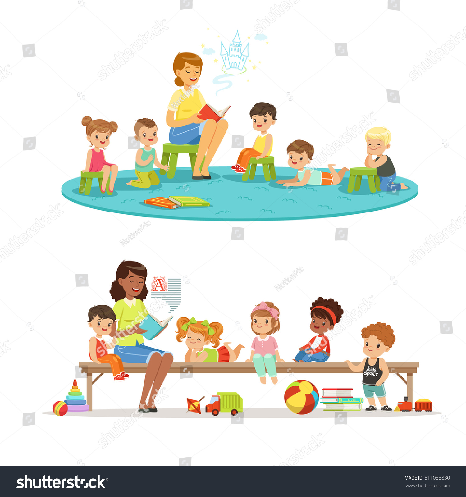 Kindergarten Cartoon