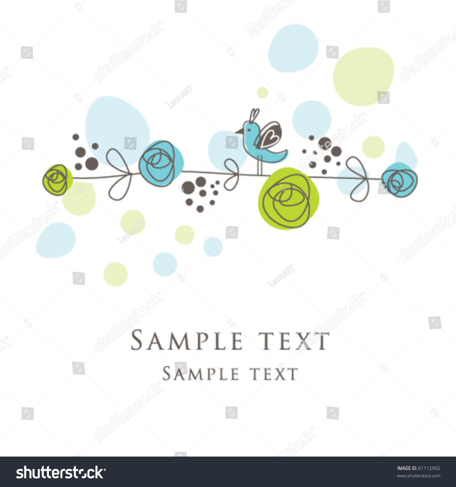 Nice Greeting Card Template cute Simple Artistic Stock Vector
