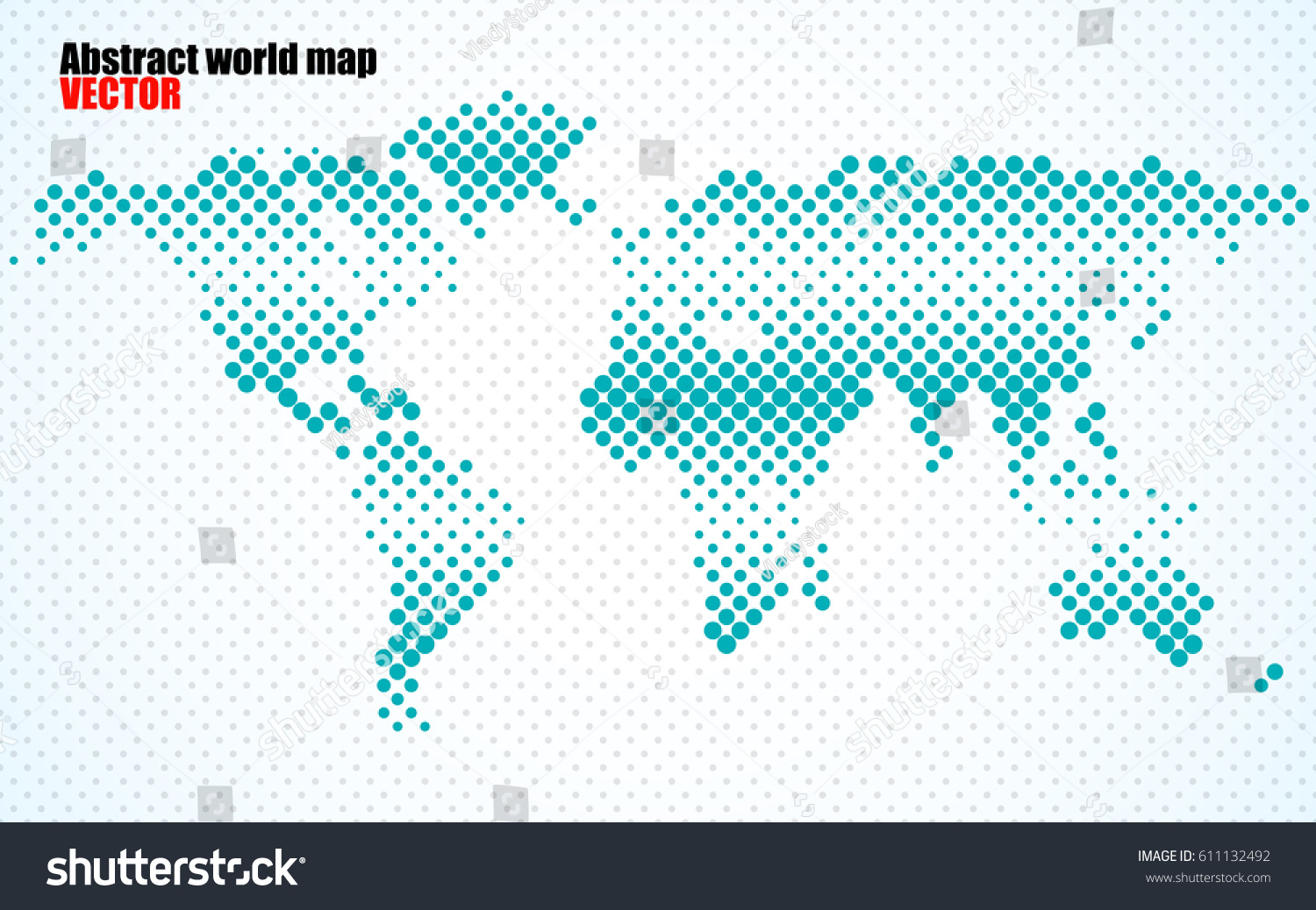Abstract halftone world map vector stock vector 611132492 shutterstock abstract halftone world map vector gumiabroncs Images