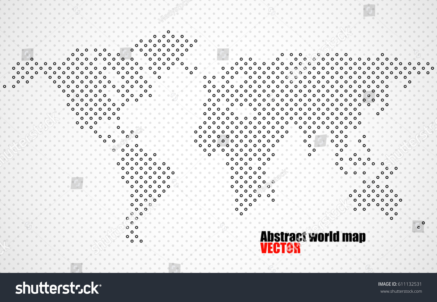 Abstract halftone world map vector stock vector 611132531 shutterstock abstract halftone world map vector gumiabroncs Images