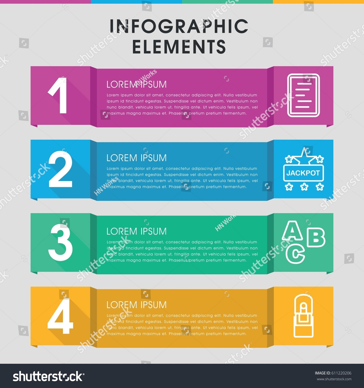 modern word infographic template infographic design stock vector