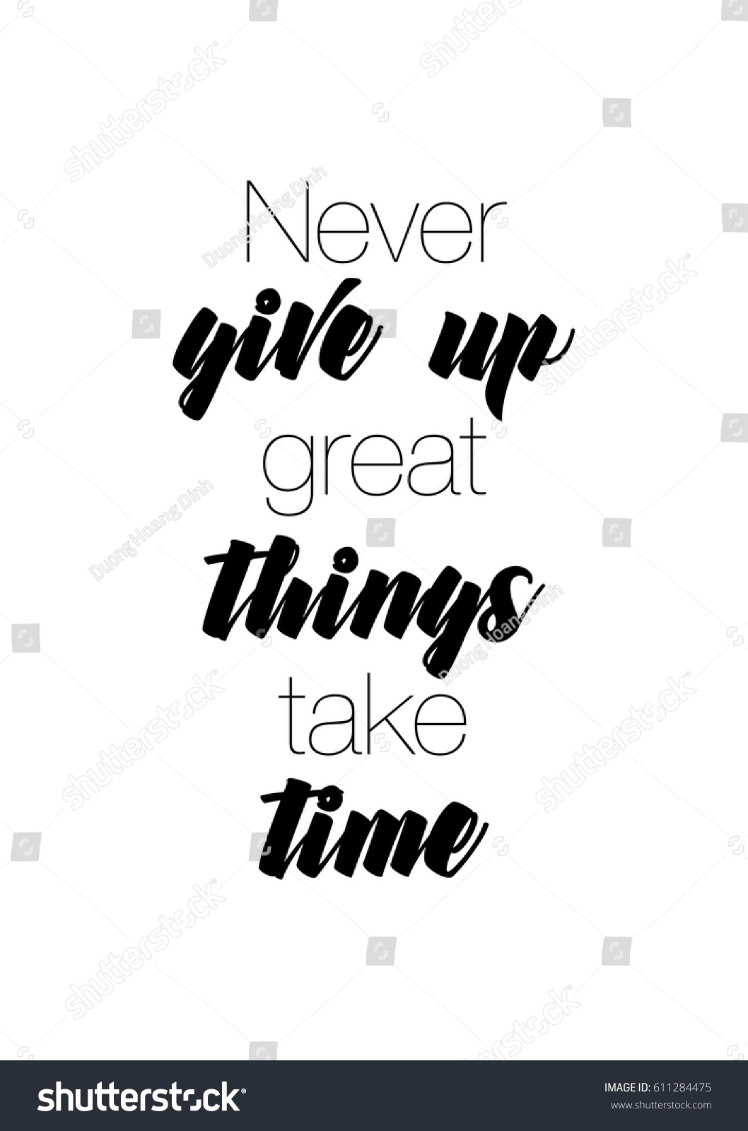 Never Give Up On Life Quotes Travel Life Style Inspiration Quotes Lettering Stock Vector
