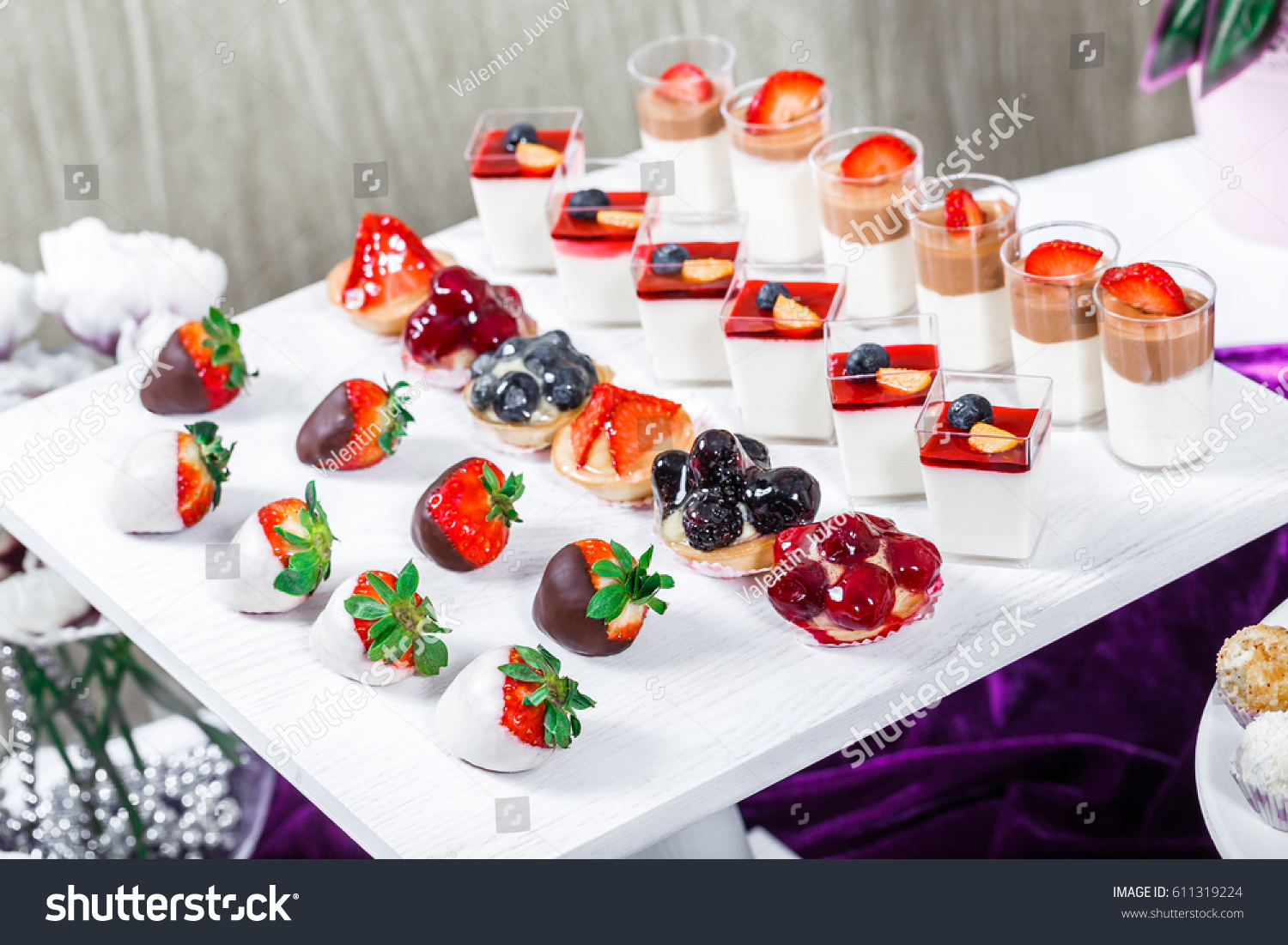 Royalty Free Candy Bar Wedding Reception Table With 611319224