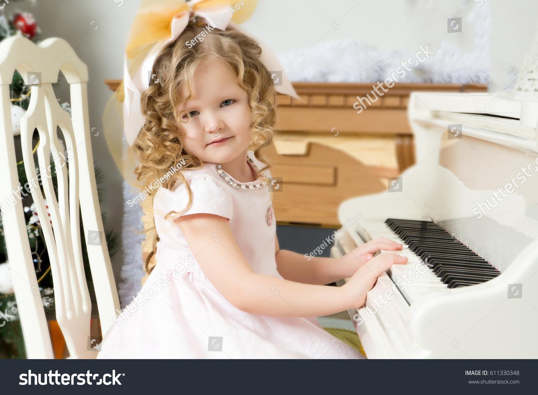 Beautiful Chubby Little Girl Long Blondcurly Stock Photo (Edit Now ...