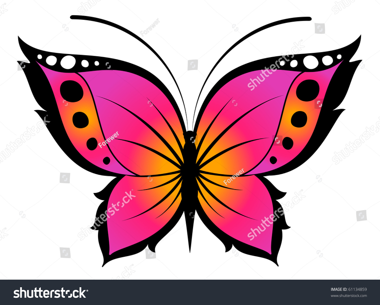 Beautiful Butterfly Design Stock Illustration 61134859 ...