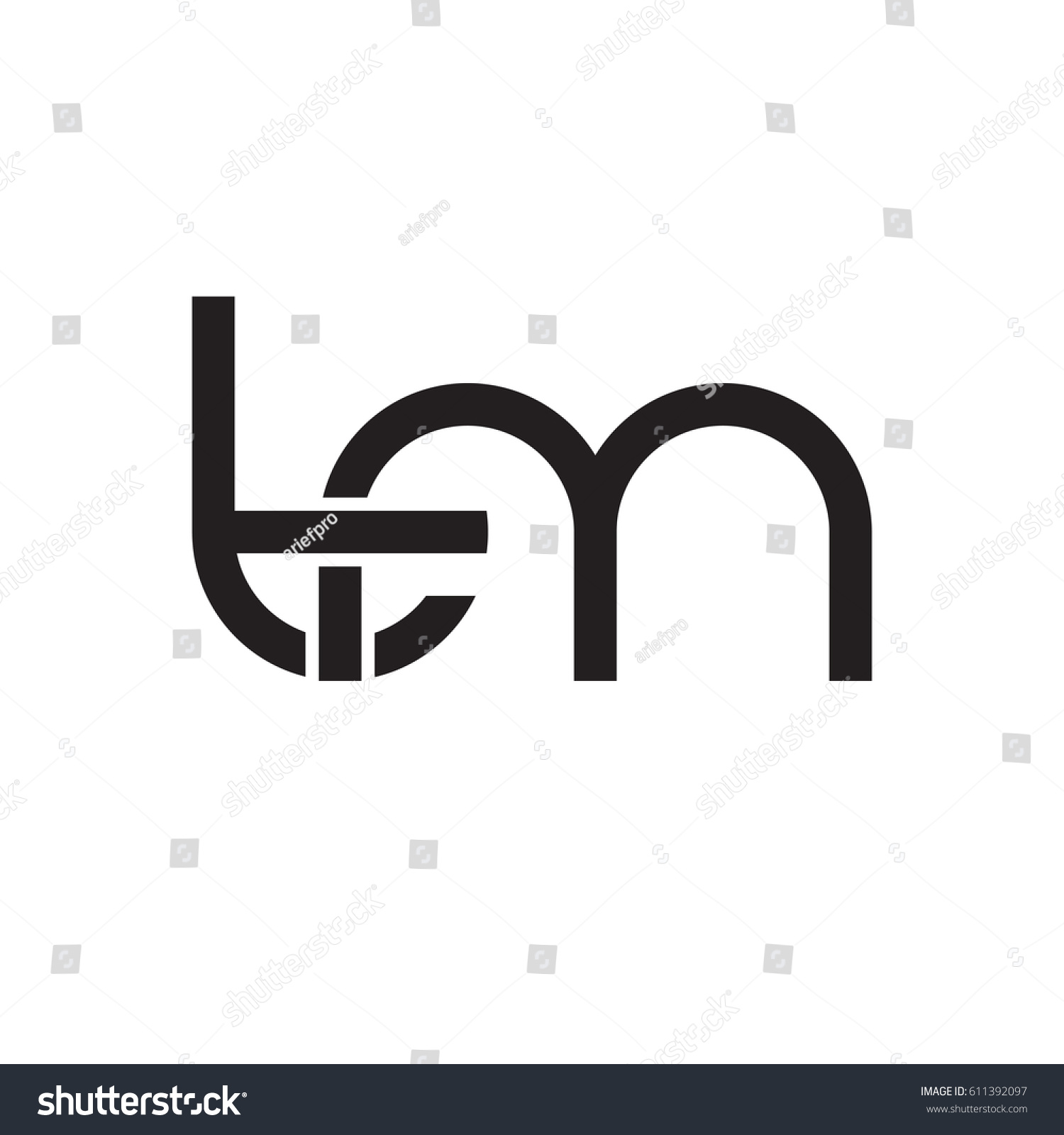 Initial letters tm round overlapping chain stock vector 611392097 initial letters tm round overlapping chain shape lowercase logo modern design monogram black buycottarizona