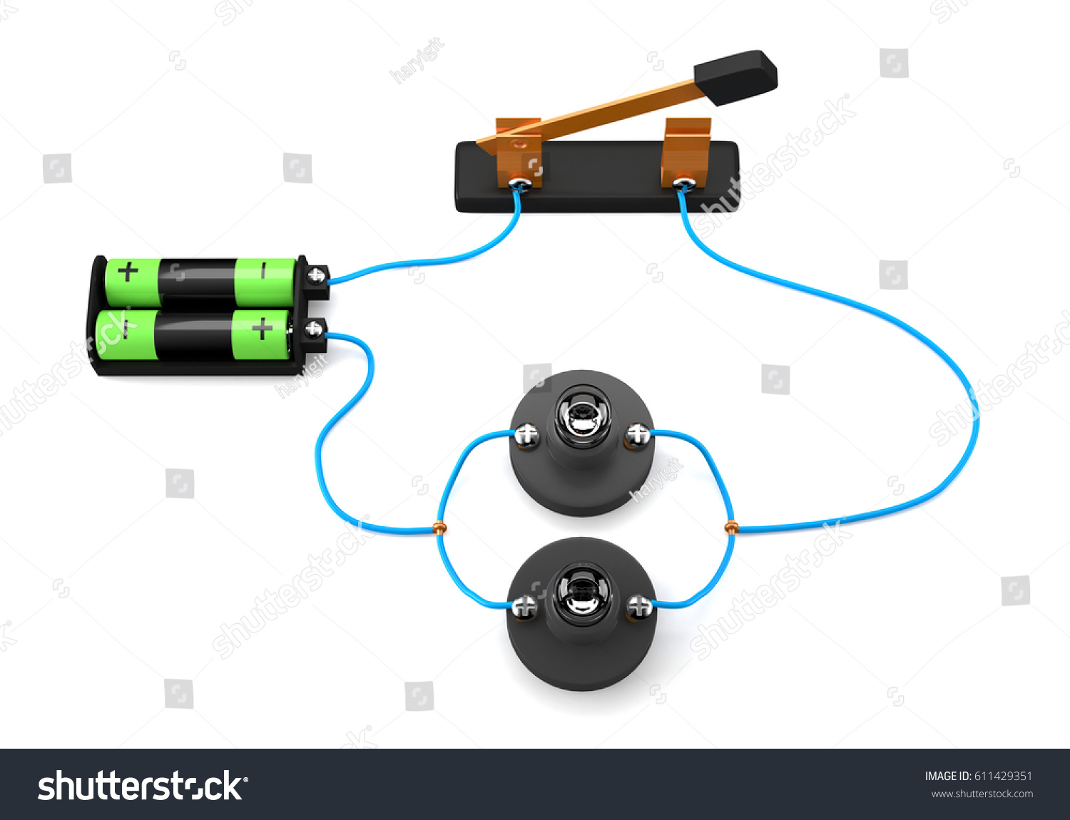 simple electric circuit parallel on white stock illustration rh shutterstock com electric circuits nilsson pdf electric circuit simulator