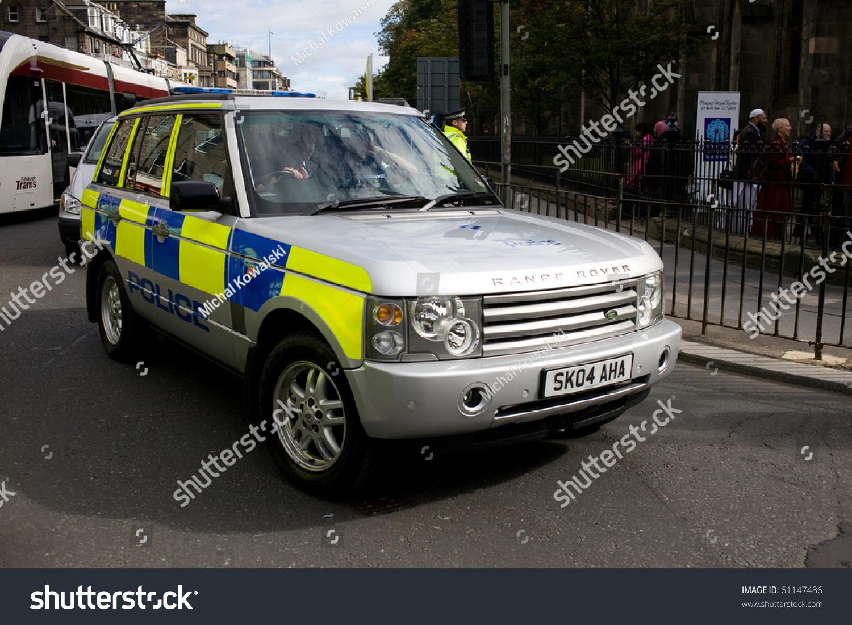 edinburgh scotland uk september 16 police range rover. Black Bedroom Furniture Sets. Home Design Ideas