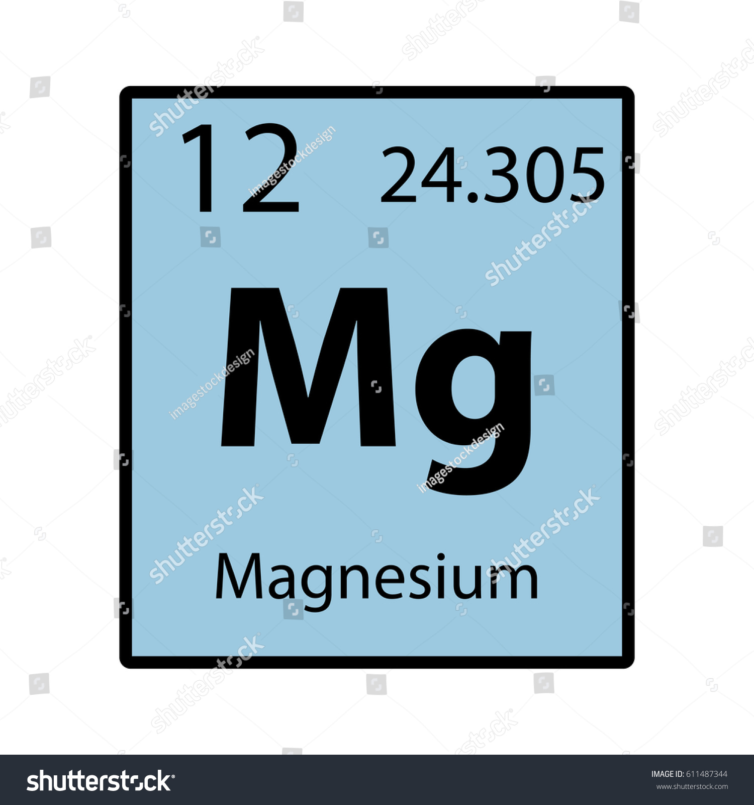 Magnesium periodic table element color icon stock vector 611487344 magnesium periodic table element color icon on white background vector gamestrikefo Gallery