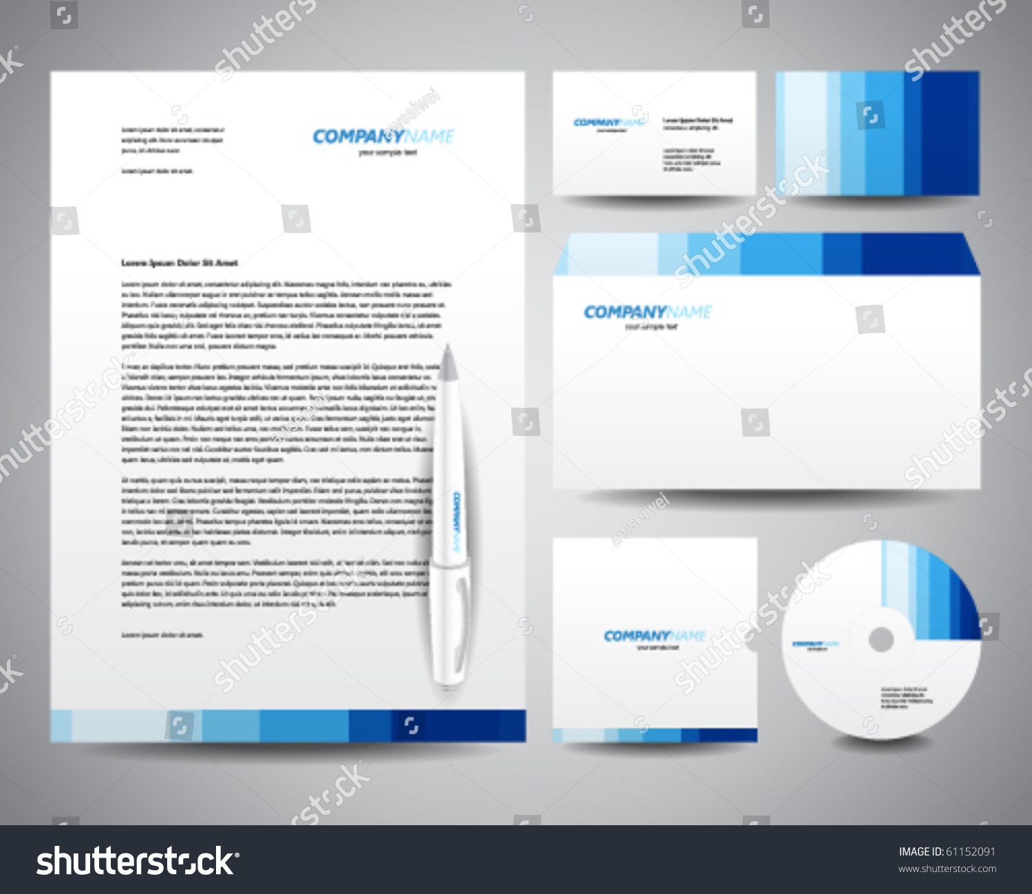 stationary template for word