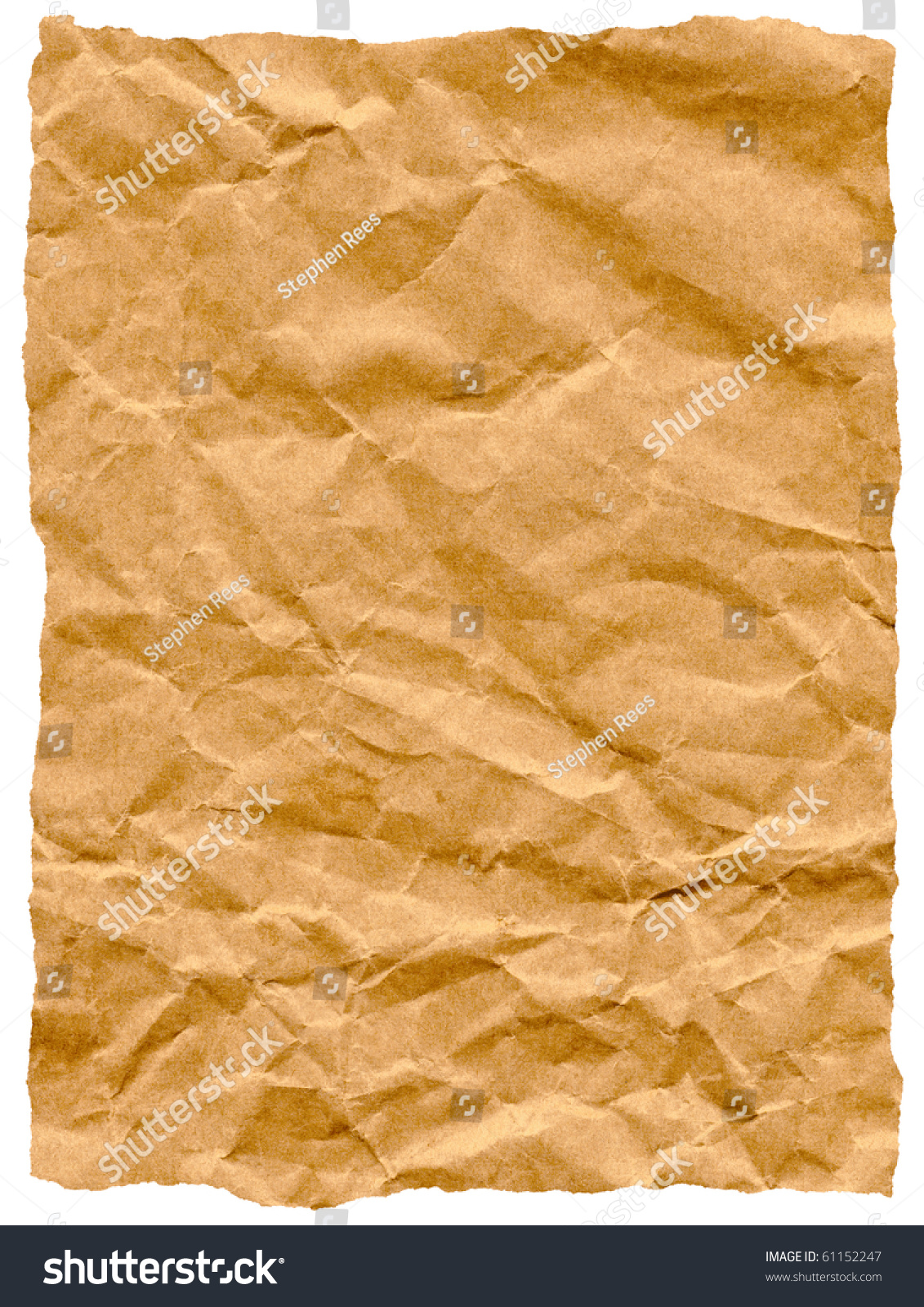 Old Torn Crumpled Paper Bag Texture Isolated On White ...  White Paper Bag Texture